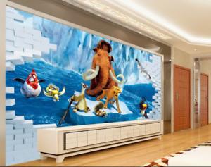 3D Glacier Era Movie 7 Wall Paper Murals Wall Print Wall Wallpaper Mural AU Kyra