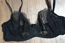 Victoria's Secret bra unlined demi black very sexy lace sheer 36D