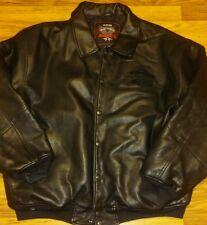 Avirex Black Leather Jacket 3XL Avirex Leather Coat XXXL