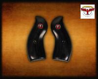 Ruger Redhawk Round Butt Style Black Diamond™ Grips + Red Steer Skull ^