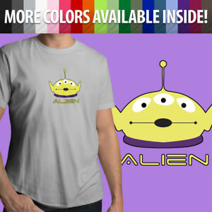 Unisex-Mens-Tee-T-Shirt-Gift-Shirt-Disney-Toy-Story-Squeeze-Alien-Little-Green