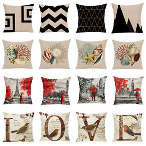 Am-Beauty-Seashell-Tower-Flower-Pillow-Case-Cushion-Cover-Sofa-Bed-Car-Cafe-Dec