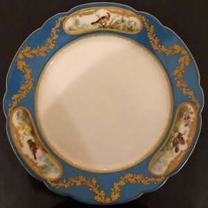IMPERIAL-RUSSIAN-PORCELAIN-DINNER-PLATE-FROM-THE-ALEXANDRINSKY-TURQUOISE-SERVIC