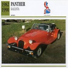 1982-1990 PANTHER KALLISTA Sports Classic Car Photo/Info Maxi Card