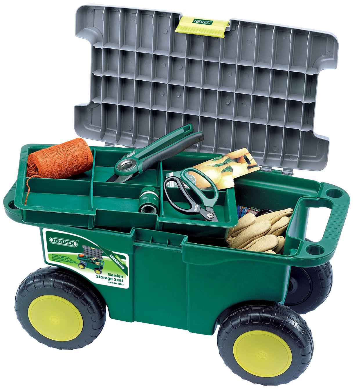 Draper giardiniere ' S Roller Camion Cassetta Degli Attrezzi Giardinaggio carrello e da giardino Storage