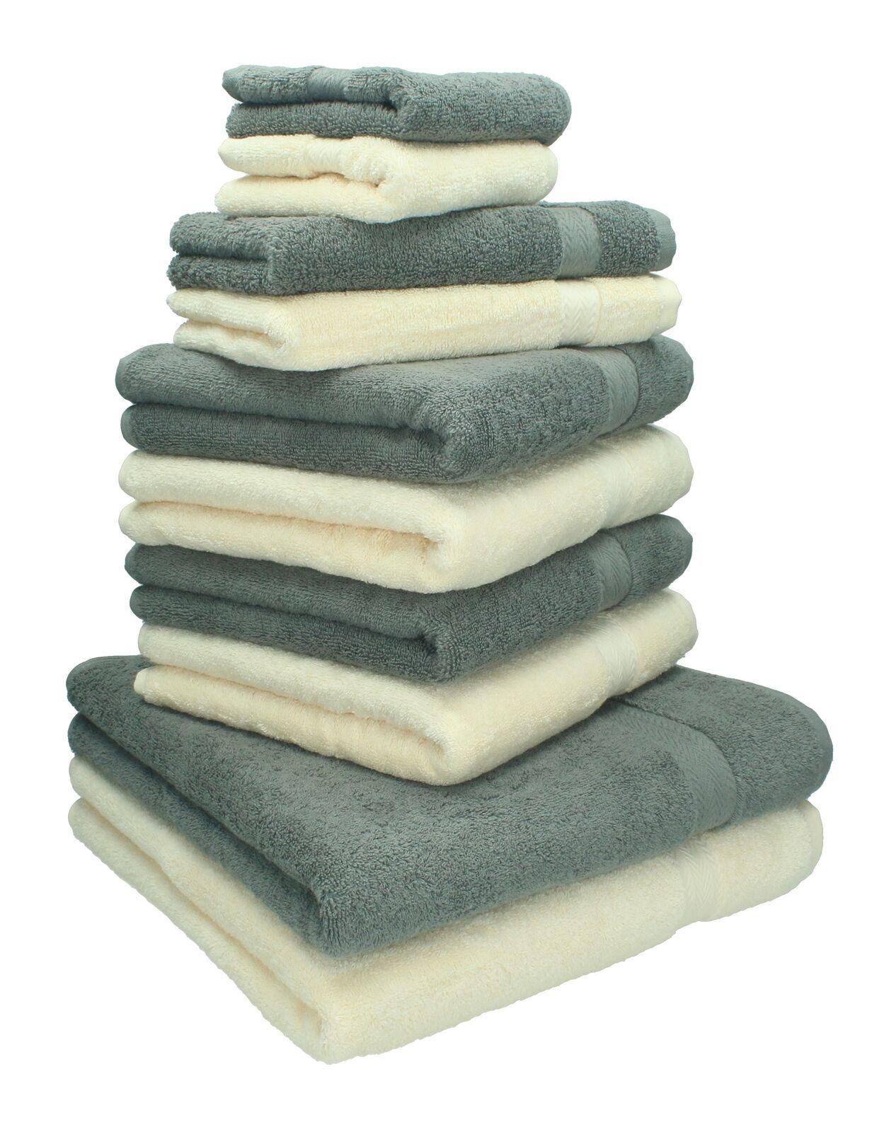 Betz 10 tlg Handtuch Set Classic Seiftücher Gästetücher Handtücher Duschtücher     | Verrückte Preis