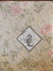 NEW WATERFORD JARDIN PALE ROSES  COTTON  FULL QUEEN  QUILT