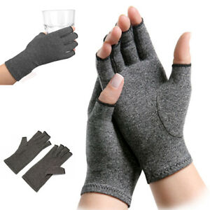 Arthritis-Compression-Gloves-Relieve-Pain-Carpal-Tunnel-Fingerless-Hand-Support