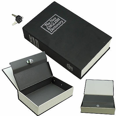 NEW Dictionary Book Safe 4 Cash Jewelry Keepsakes Secure Hiding Spot Black Small