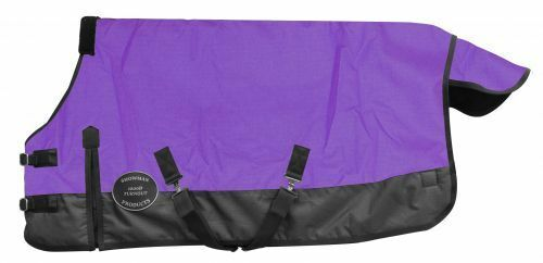 lila Pony Yearling Horse 1200D Waterproof Winter Turnout Blanket 48 50 52 54