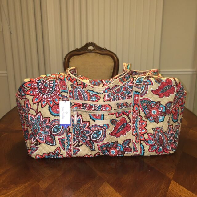 Vera Bradley Iconic Large Travel Duffel Weekender Desert Floral for ... 01e6b2ac43ab9