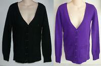 Womens AEROPOSTALE Solid Boyfriend Angora Wool Cardigan Sweater NWT #8693