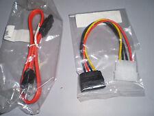 SATA DATA cable & power cable for Serial ATA Hard Drive sata Blu-Ray DVDRW Drive