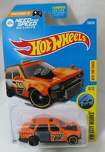 Details about 2017 - Hot Wheels - HW CITY WORKS - TIME ATTAXI 4/10 (NEED  FOR SPEED NO LIMITS)