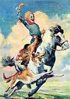 Boy Riding Horse Greeting Card 6 Cards Individually Bagged With Envelopes and H