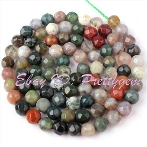 4MM-FACETED-ROUND-SHAPE-MULTICOLOR-INDIAN-AGATE-GEMSTONE-SPACER-BEADS-STRAND-15-034