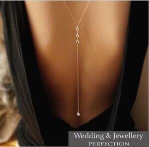 Back-Chain-Body-Necklace-Silver-Crystal-Rhinestone-Long-Wedding-Jewelry-Drop
