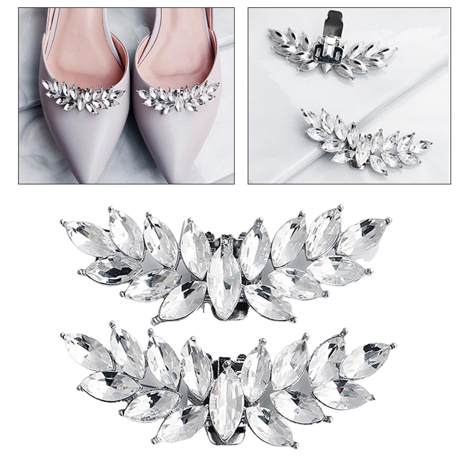 1 Pair Crystal Rhinestone Shoe Clips Women Wedding Shoes Buckle