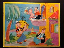 Vintage Jaymar POPEYE the SAILOR Frame Tray Puzzle - Olive Oyl, Swee'Pe & Wimpy