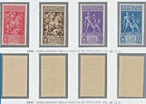 ITALY-REGNO-1941-BIMILLENARIO-NASCIATA-di-TITO-LIVIO-S-98-4v-MNH