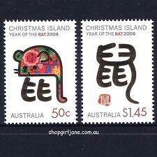 2008 - Australia - Christmas Island - Zodiac Year of the Rat - set of 2 - MNH