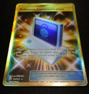 Pokemon 196//181 Team Up Full Art Secret Rare Pokemon Communication