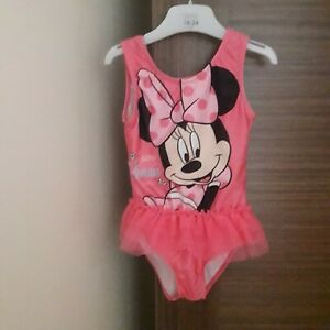 Young girls pink Minnie Mouse swimsuit with tutu (24-36 months)