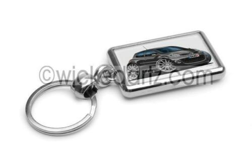 RetroArtz Cartoon Car Renault Clio 197 RS in Black Premium Metal Key Ring