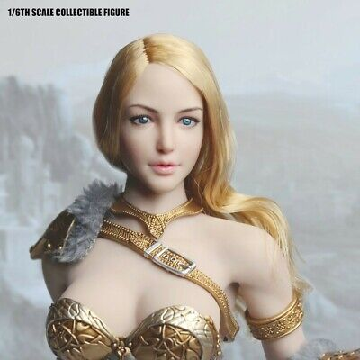 """1:6 Lady Head Sculpt Yellow for 12/"""" Female Phicen Action Figure Accessories"""