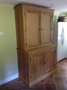 Details About Freestanding Bespoke Handmade Solid Oak Kitchen Larder Cupboard Pantry Laundry