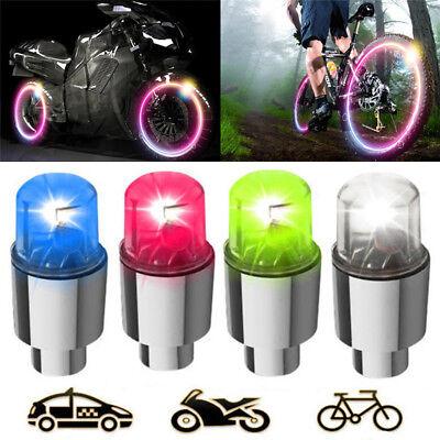 4pcs LED Tire Valve Cap Lamp Spoke light Flash For Bike Bicycle Car Motor FBDU