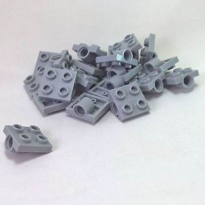 Lego 5 New Light Bluish Gray Plates Modified 2 x 2 with Pin Holes
