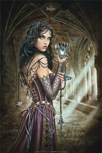 ALCHEMY-GOTHIC-NAME-OF-THE-ROSE-24x36-FANTASY-ART-POSTER-Woman-Cathedral