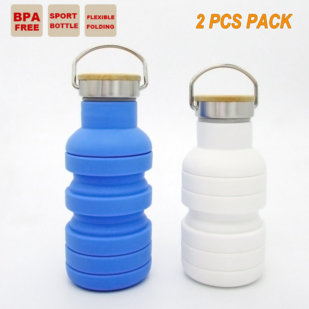 2x Travel Office Water Bottle Outdoor Camping Gym Outback School Sport Kettle