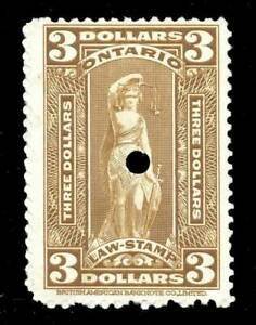 Canada-Revenue-Ontario-Law-1929-40-van-Dam-OL78-3-F-VF-Used