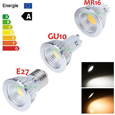 Dimmable 6W 9W 12W GU10 E27 MR16 COB LED Bulbs Cool/Warm White Spot Down Lights