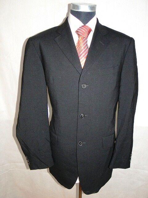 Joop Sakko  Einreiher Schwarz Unifarben Unifarben Unifarben Schurwolle Gr. 50     | Überlegen  | Zuverlässige Qualität  | Tragen-wider  6254a6