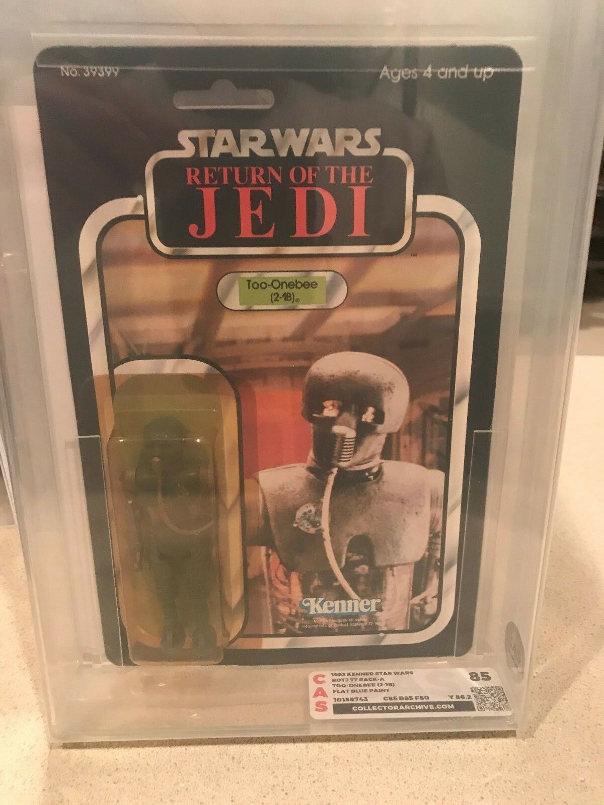 Vintage Kenner Star Wars 77 back 2-1B CAS AFA Graded 85 ROTJ MOC