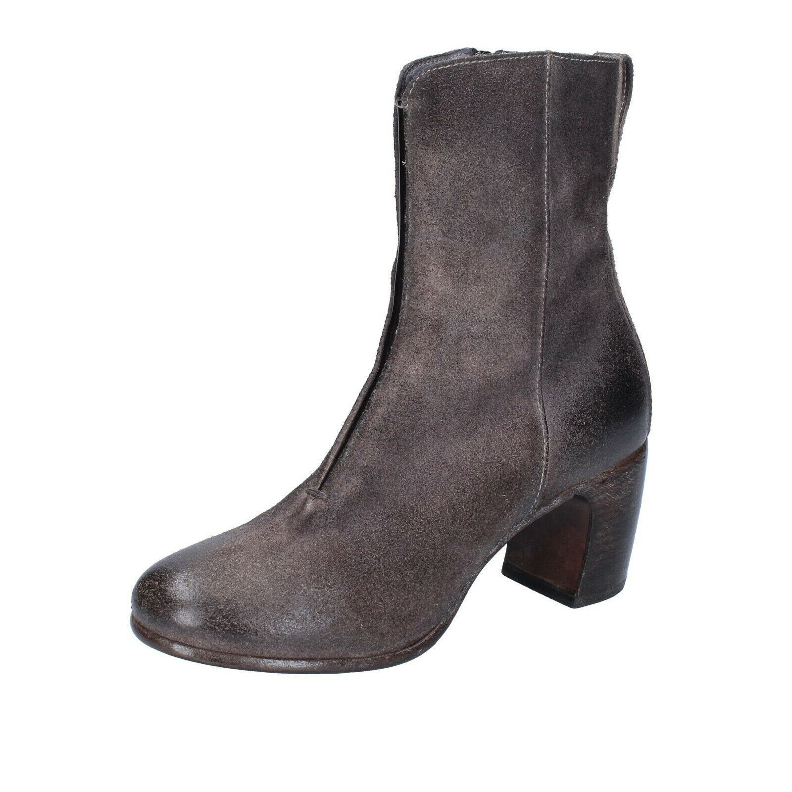 Womens shoes MOMA 37 EU Ankle Boots Grey Suede BS548