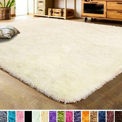 Ivory Faux Fur Rug Area Shaggy 5.3 x 7