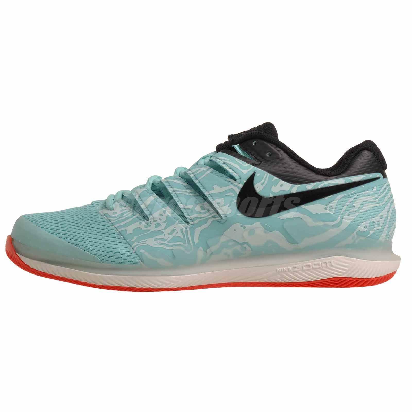 Nike Air Zoom Vapor X HC Tennis  Mens scarpe verde nero AA8030 -301  consegna lampo
