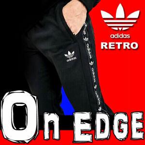 "LIMITED EDITION RETRO ADIDAS ORIGINALS TREFOIL ""ON EDGE"" FLEECE TRACK PANTS L"