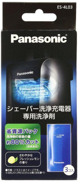 Panasonic ES-4L03 Cleaning Agents 3 Pcs for Ram Dash Shaver Japan