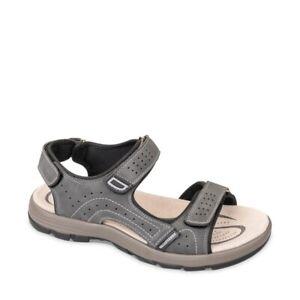 VALLEVERDE 54802 Sandalen Schuhe Trekking Leder Herren Tücken Grau