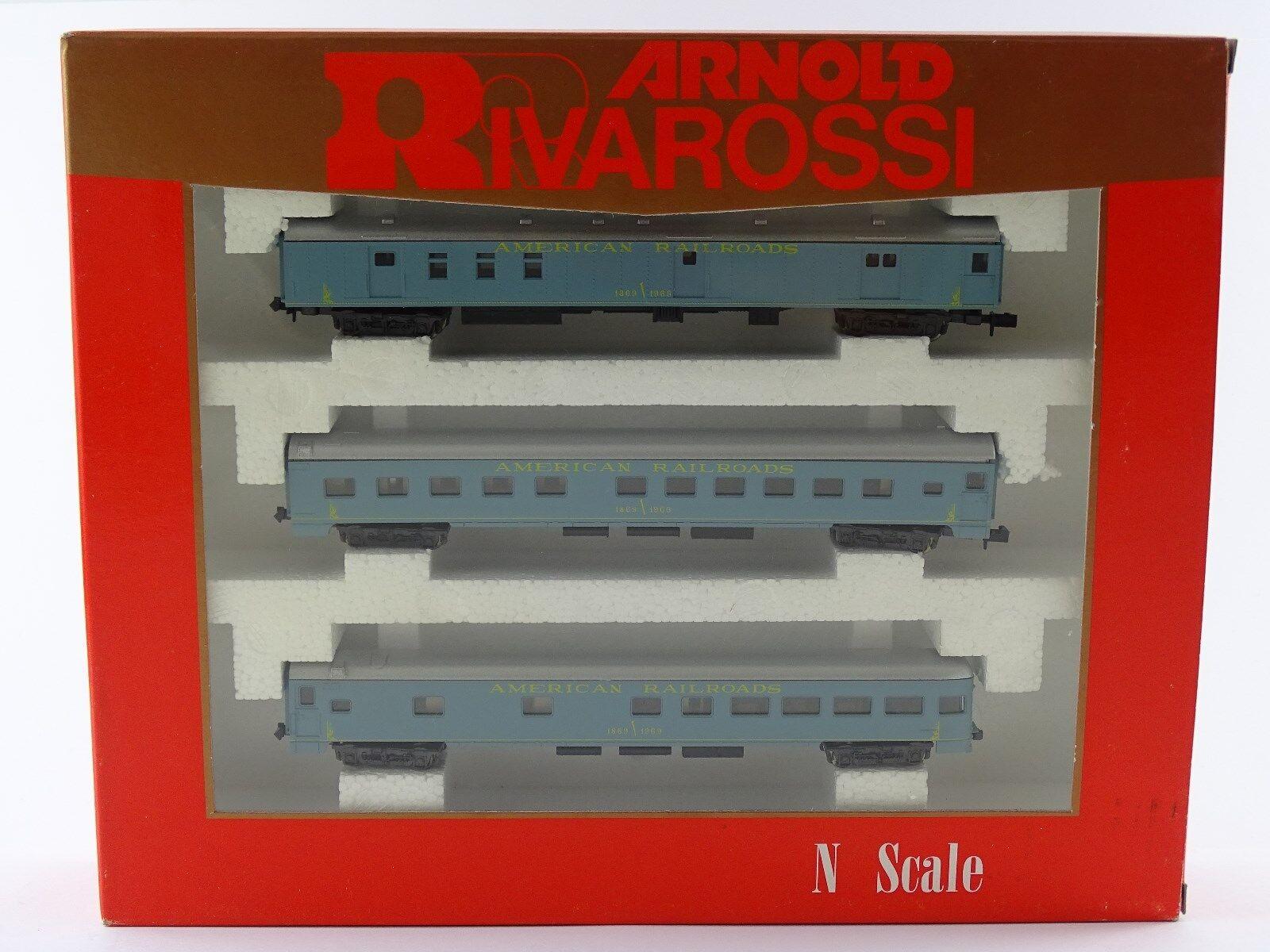 Rivarossi Arnold 0581 a los turismos set American Railroads n nuevo embalaje original Rare