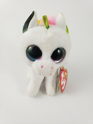 "TY Beanie Boos 3/"" PIXY the Unicorn Plastic Key Clip Plush MWMT/'s w// Heart Tags"