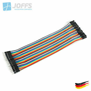 40-x-20cm-MALE-zu-FEMALE-Jumper-Kabel-Dupont-Cable-Breadboard-Wire