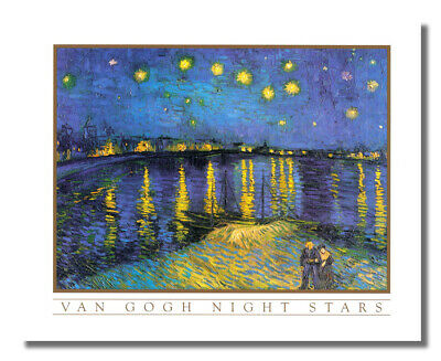 Starry Night in Town Vincent Van Gogh Wall Picture 8x10 Art Print