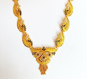 22k Gold Plated Necklace Earring South Indian Designer Set Women Wedding Jewelry Ebay,Sri Lanka Bathroom Designs Photos