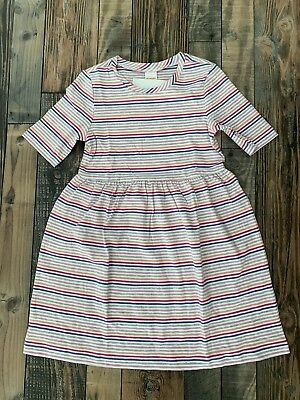 Gymboree Mix N Match Girls knit Flower Floral Purple Grey dress NWT M 7 8